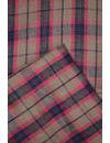 Pure  Mercerized  Premium Linen by Linen  Checkered Fabrics