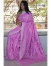 Silk by Cotton Completely Handwoven Moirang Phee Saree