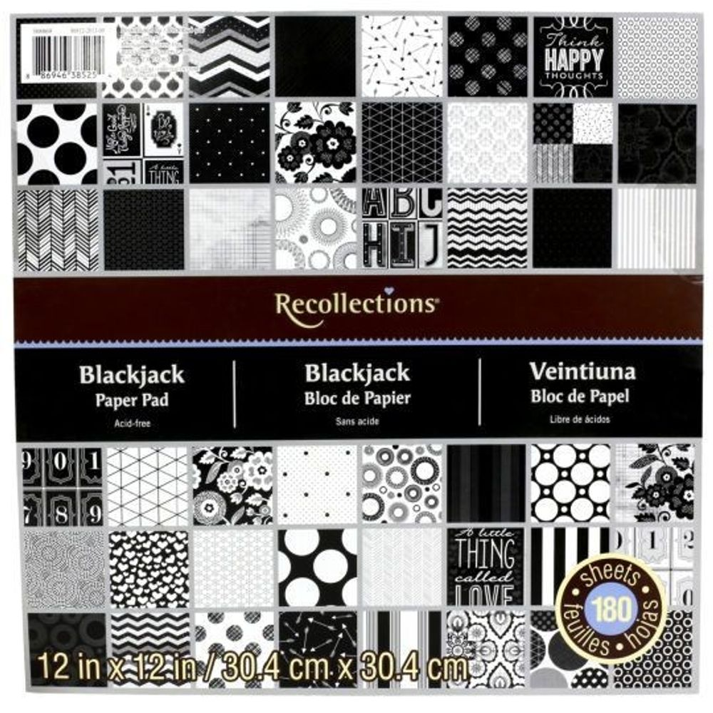 Blackjack recollections paper pad ps 385254 diecuts with a blackjack recollections paper pad pronofoot35fo Gallery