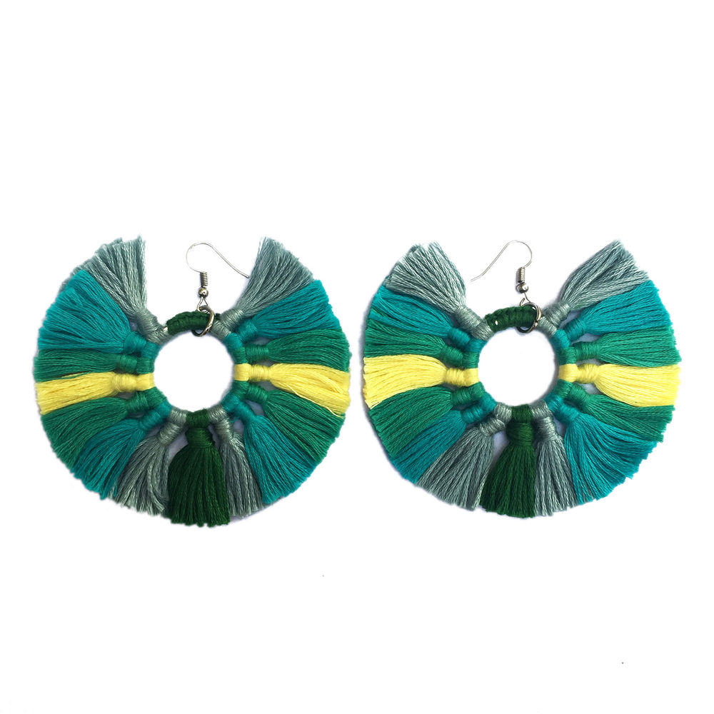 greenerrings earrings outfit shop product pom green that