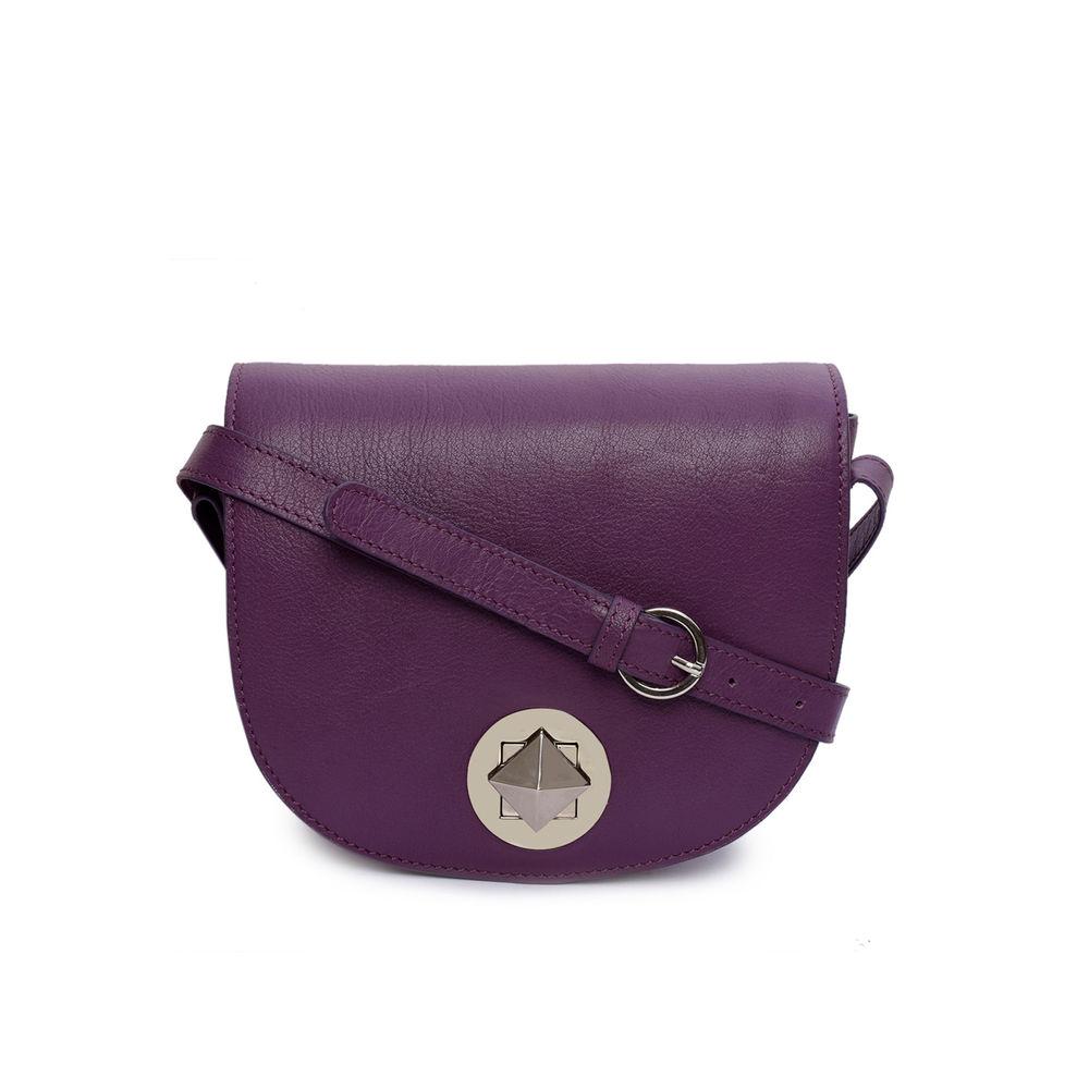 Women's Leather Crossbody Bag - PRU1352