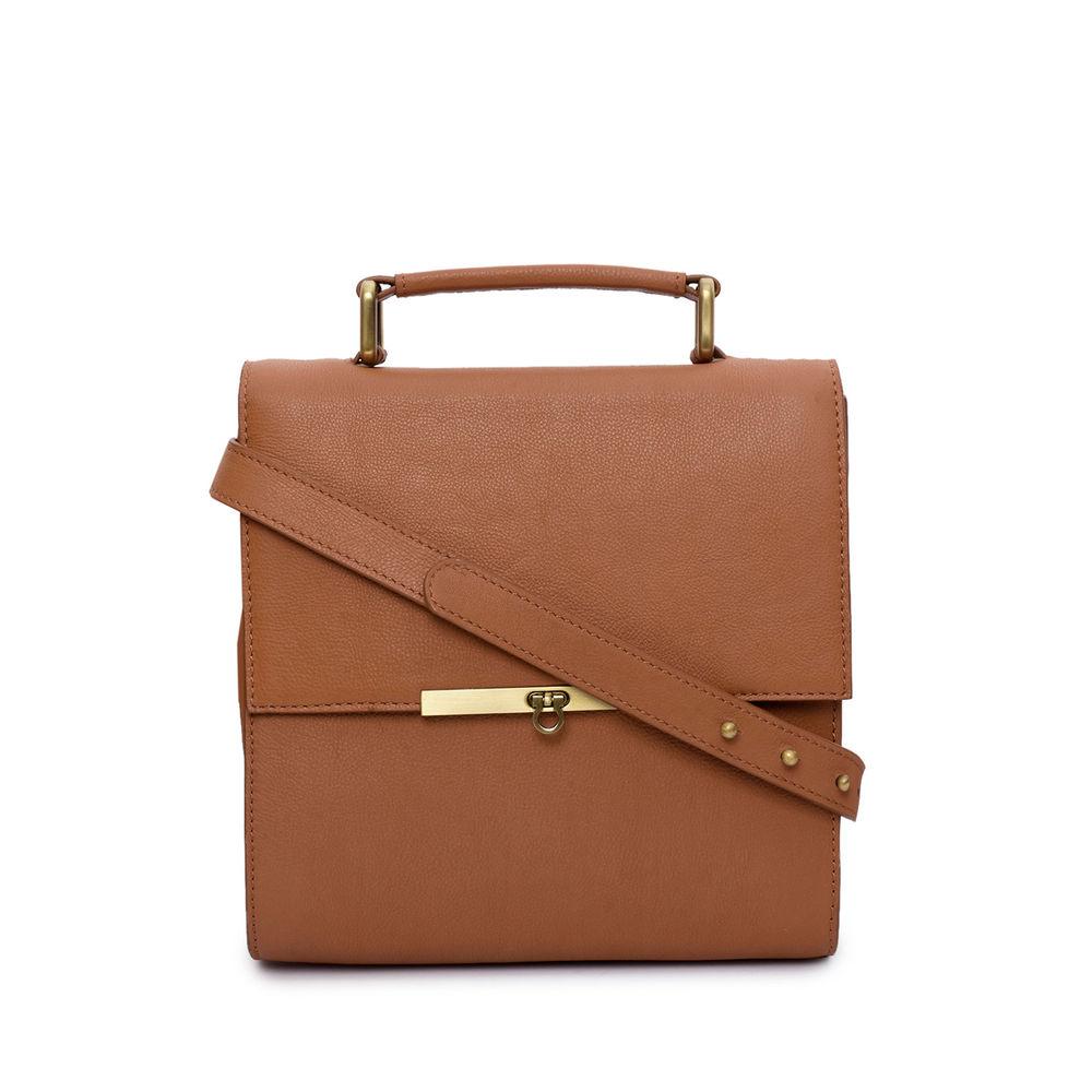 Women's Leather Crossbody Bag - PRU1366