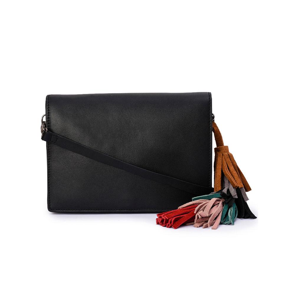 Women's Leather Cross Body Bag - PRU1396