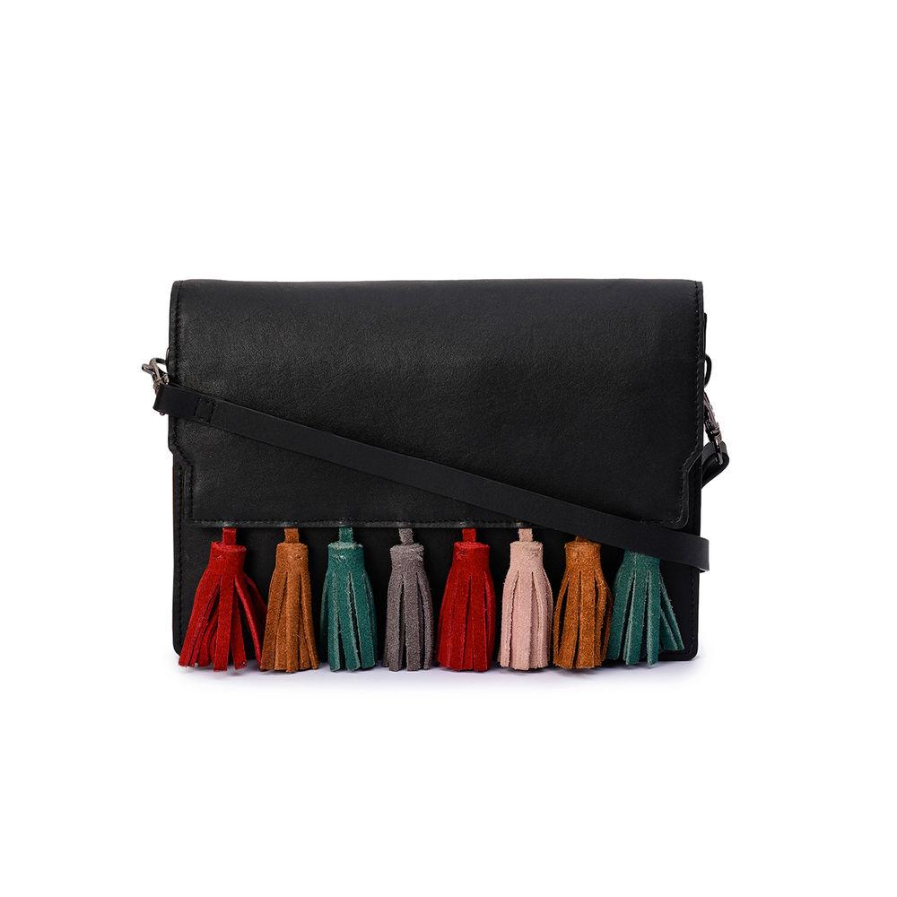 Women's Leather Cross Body Bag - PRU1397
