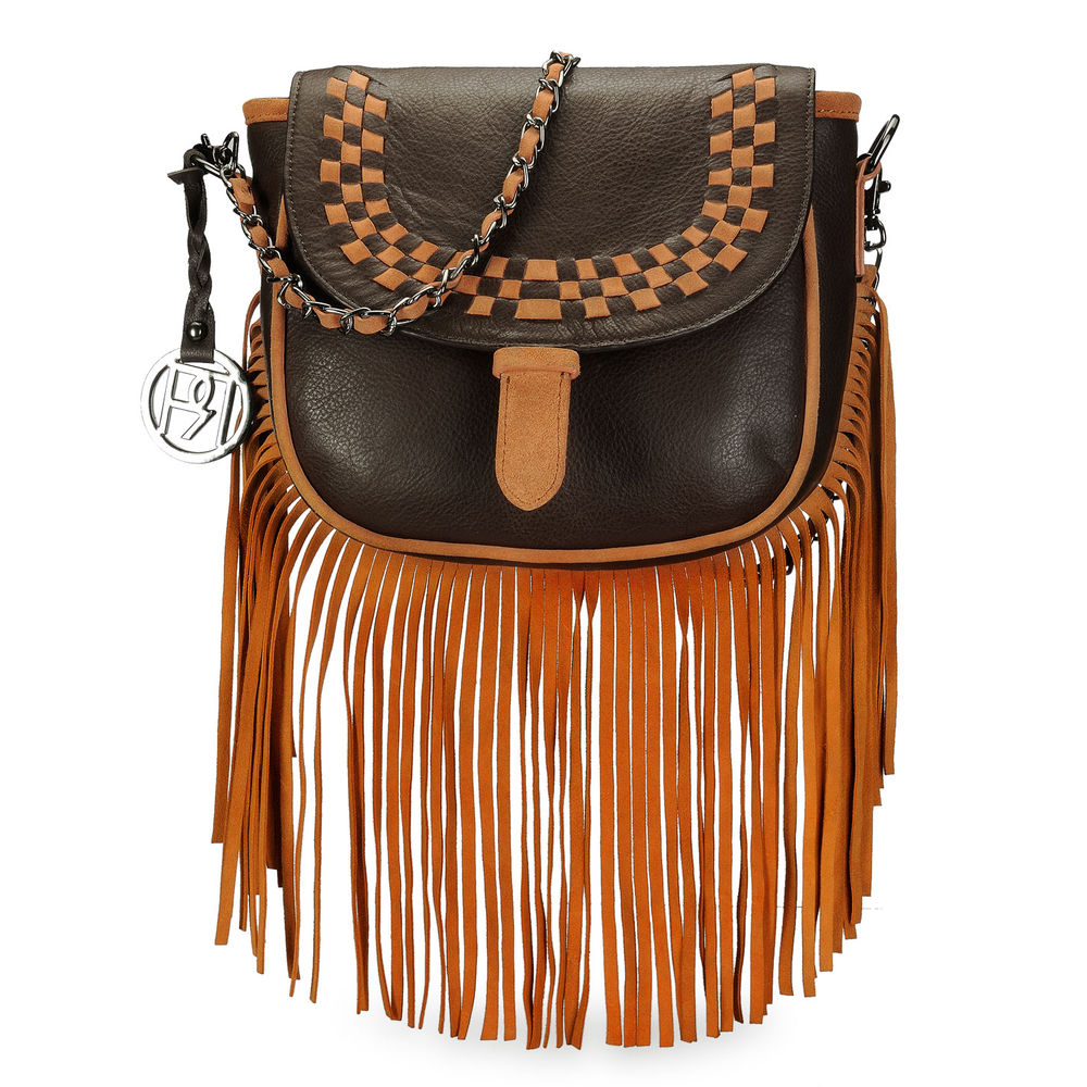 Women's Leather Crossbody Bag - PR1072