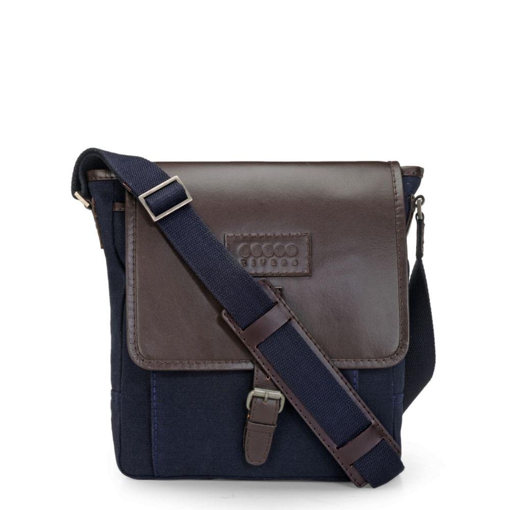 Men's Leather Messenger Bag - PR1106
