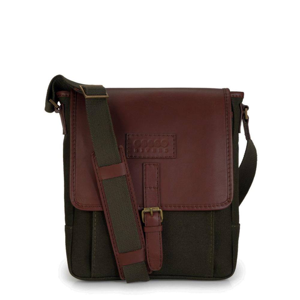 Men's Leather Messenger Bag - PR1107