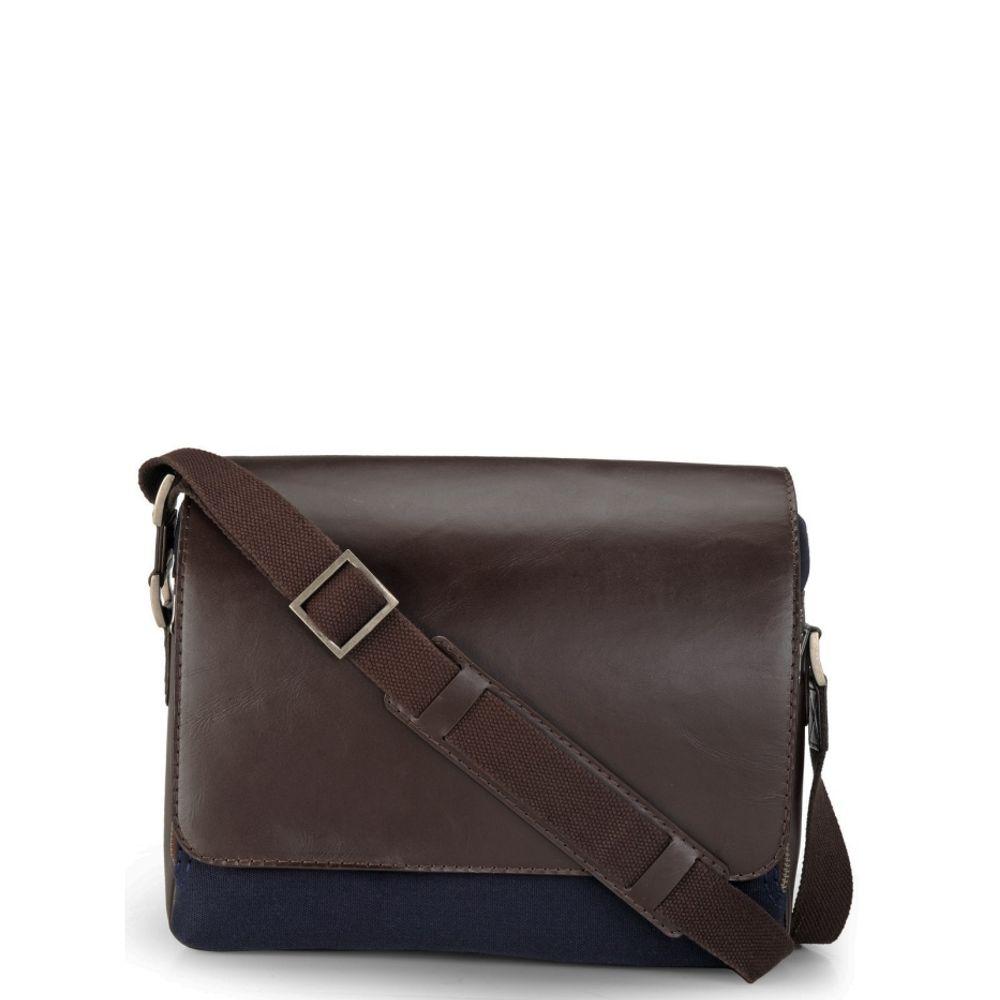 Men's Leather Messenger Bag - PR1109