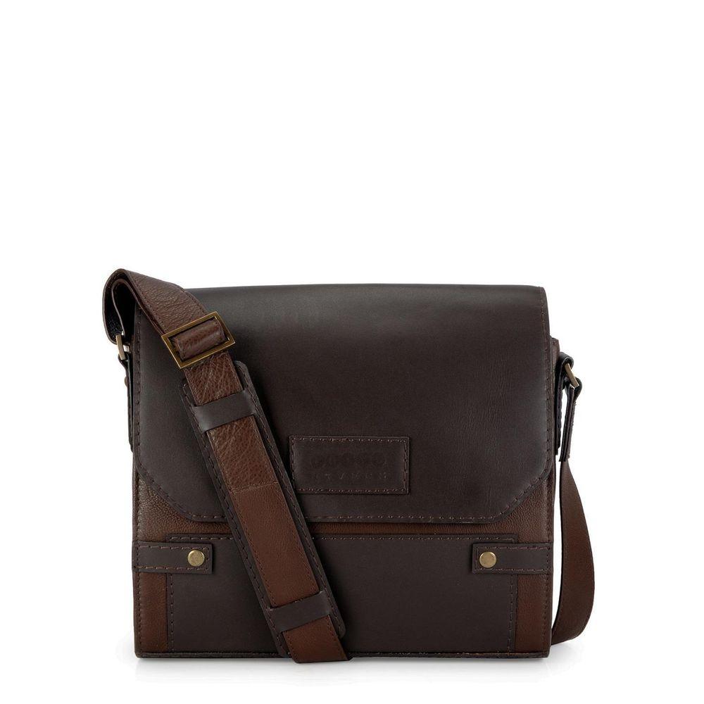 Men's Leather Messenger Bag - PR1120