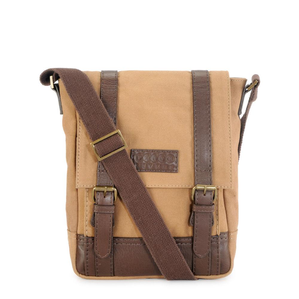 Men's Leather Messenger Bag - PR1149