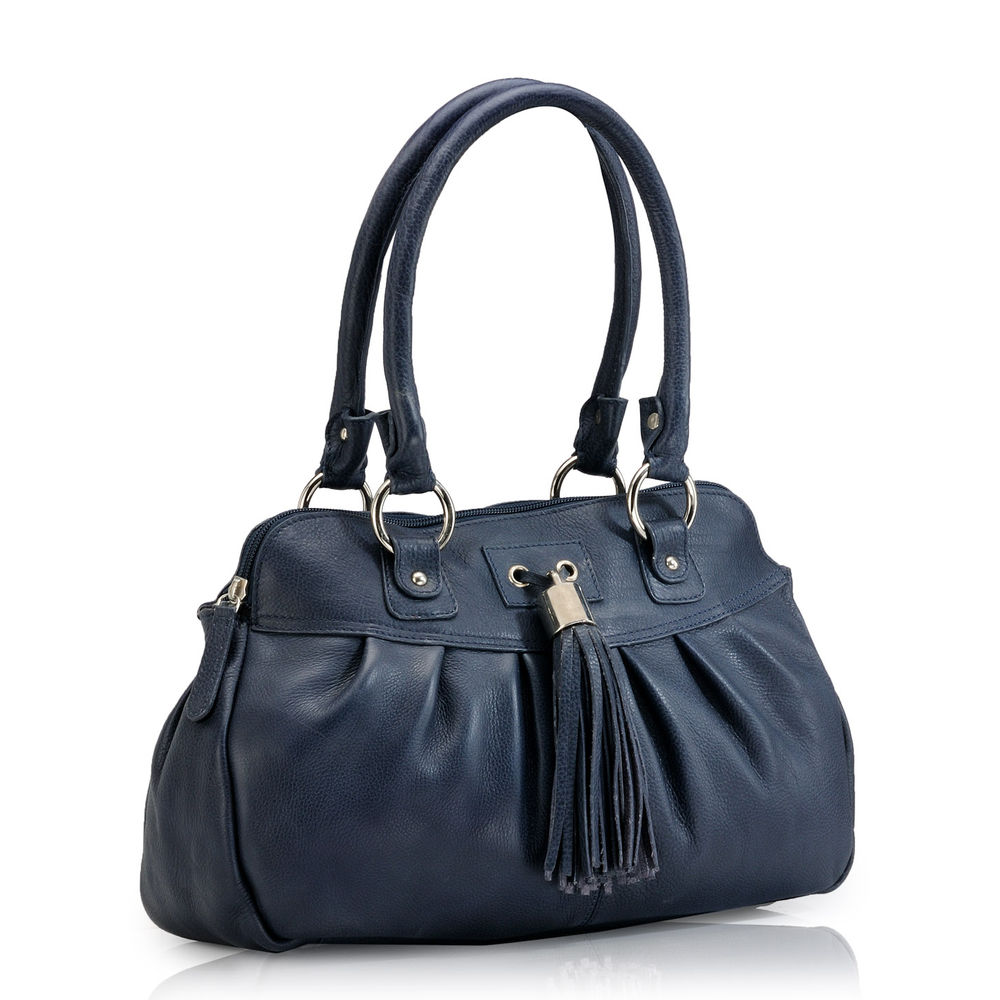 Women's Leather Satchel Bag - PR399