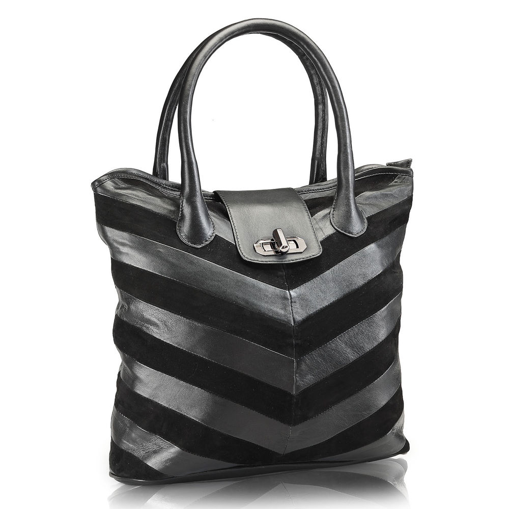 Women's Leather Tote Bag - PR597