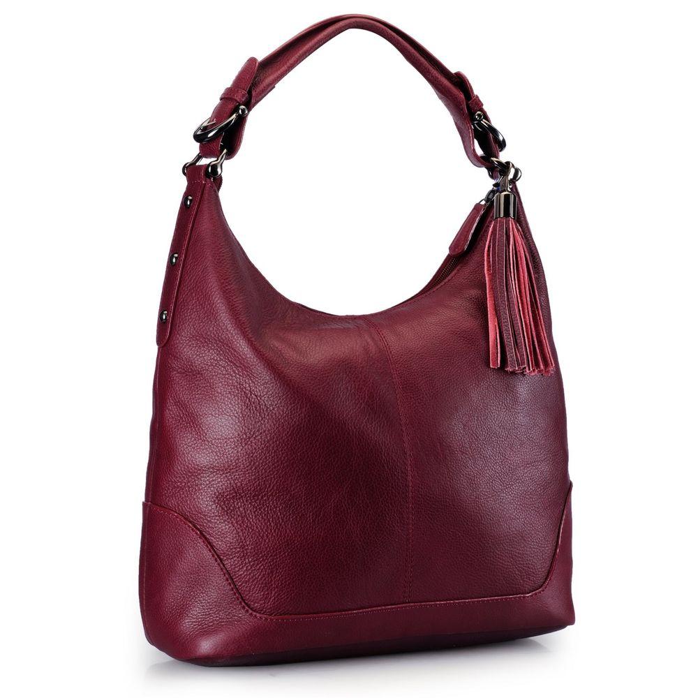 Women's Leather Hobo Bag - PR844