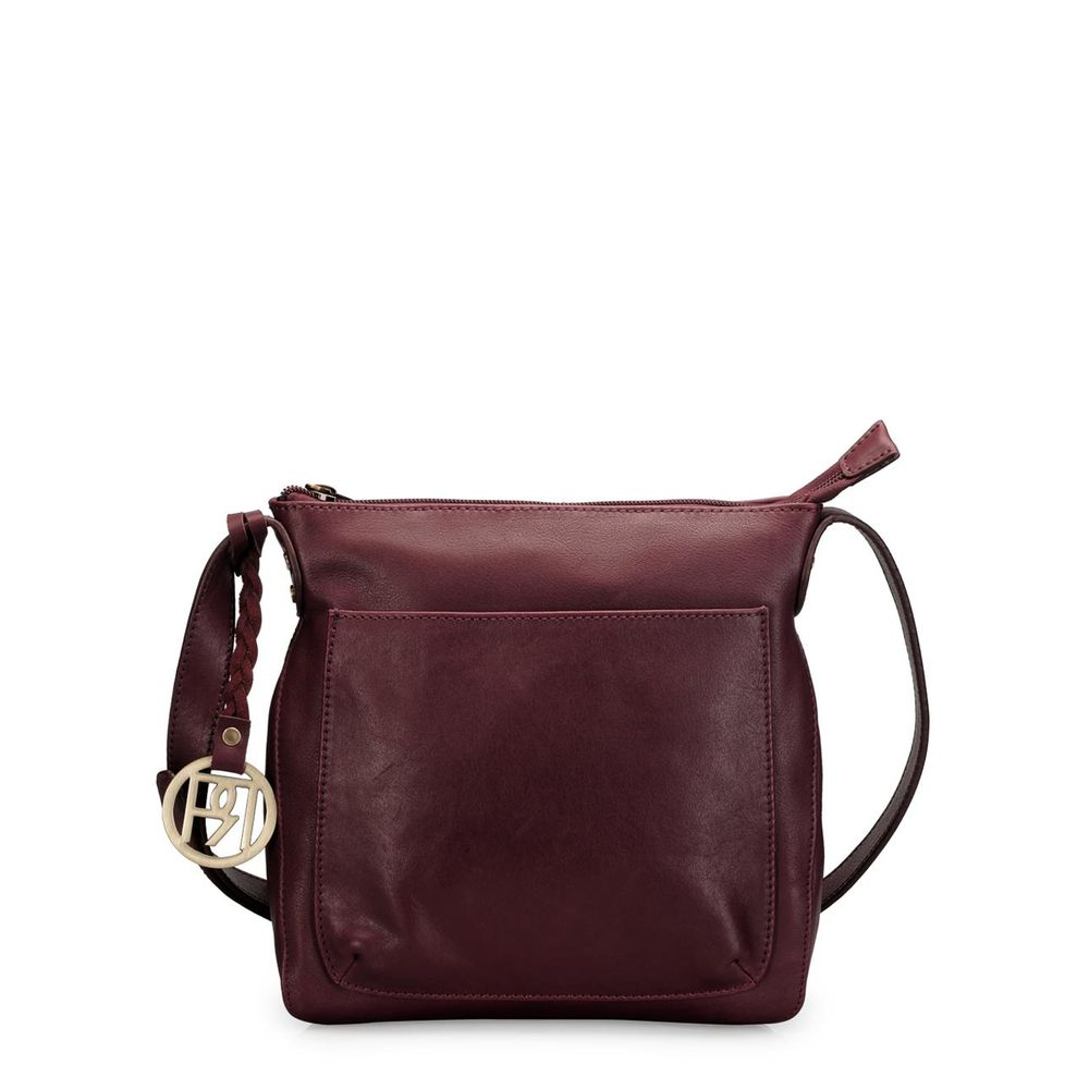 Women's Leather Crossbody Bag - PR976
