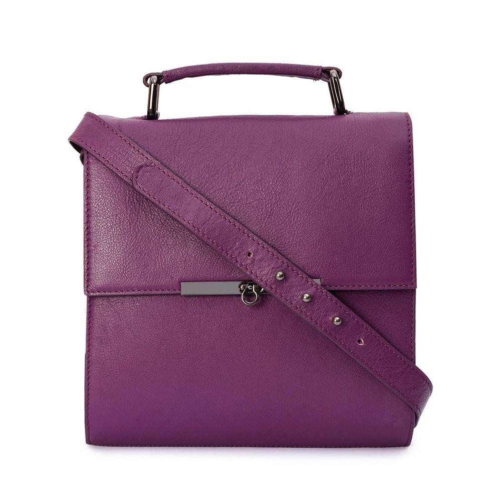 Women's Leather Crossbody Bag - PRU1324
