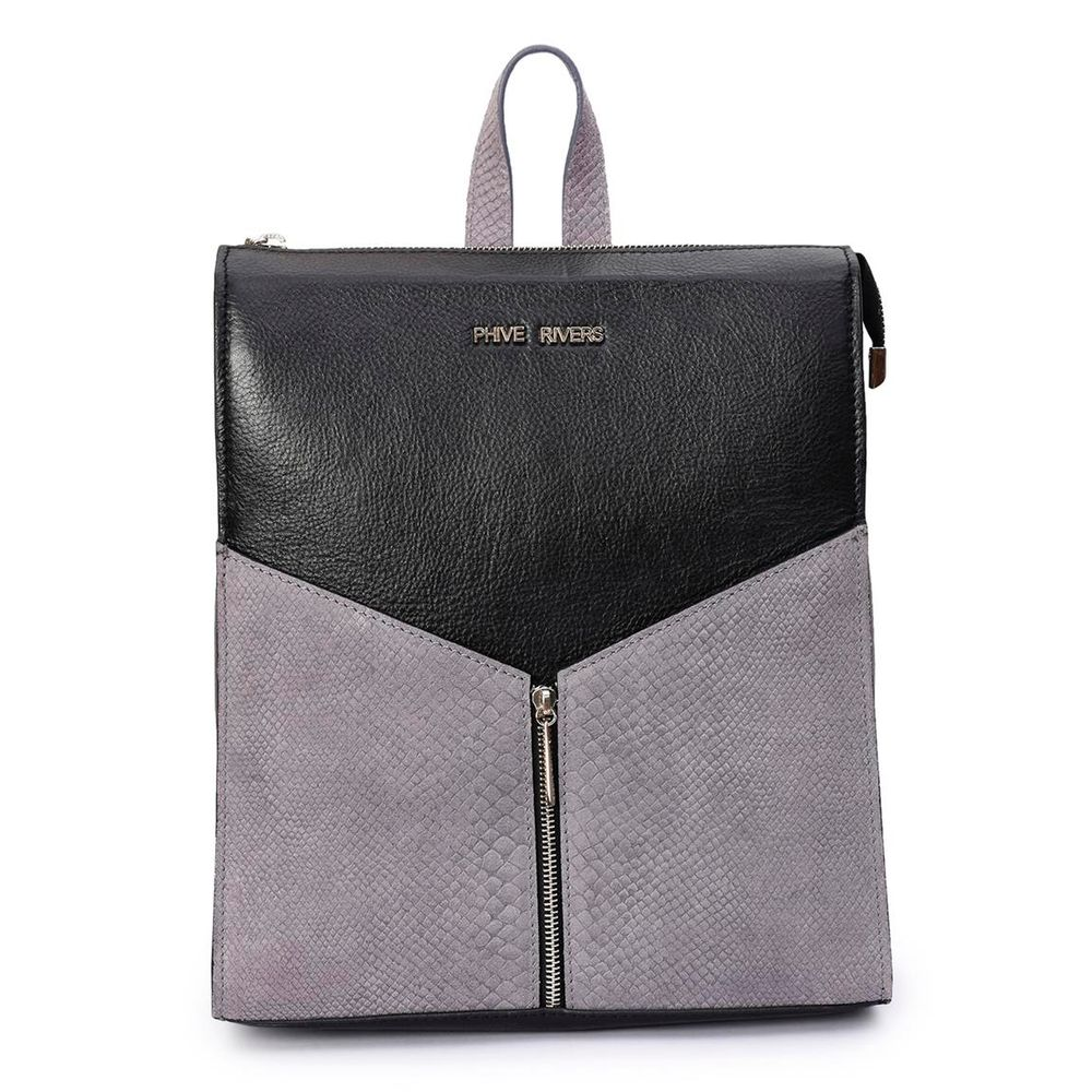 Women's Leather Backpack - PRU1338