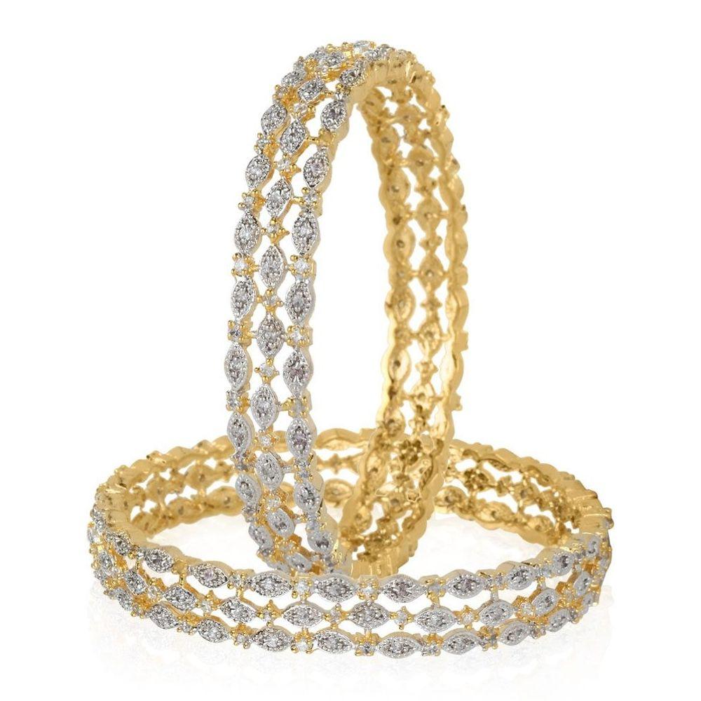 Buy Exclusive Designs of American Diamond Bangles