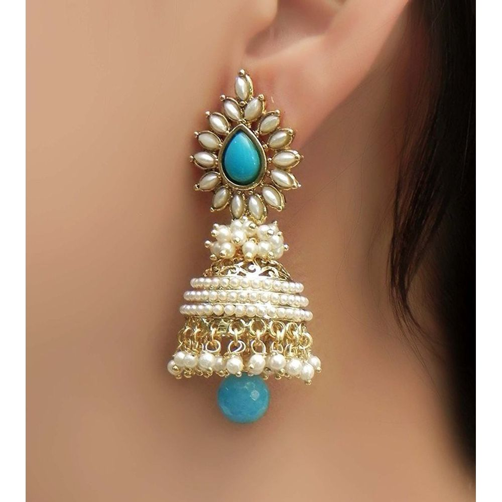 floral gold trendy product nac detail earrings