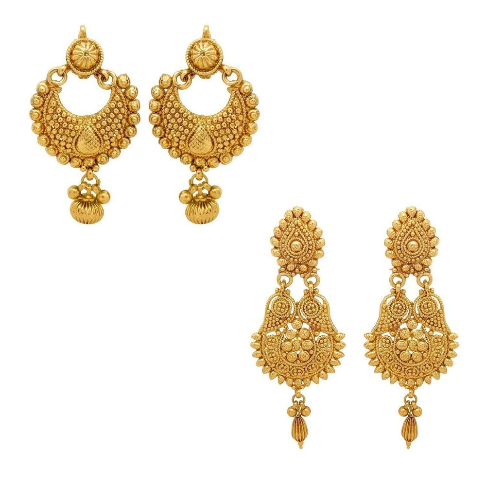 2421bb3cd YouBella Jewellery Gold Plated Jewellery Combo of Traditional Earrings for  Girls and Women