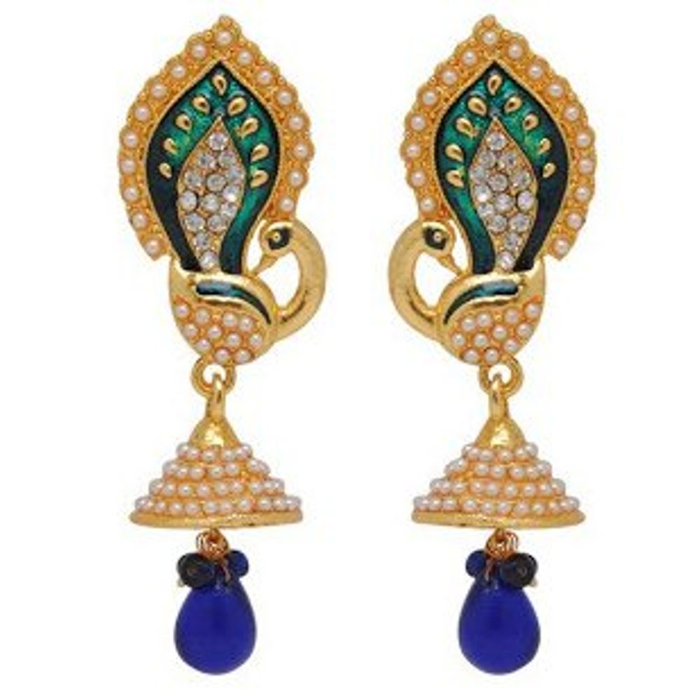 Youbella Traditional Gold Plated Jewellery Pearl Jhumka Jhumki ...