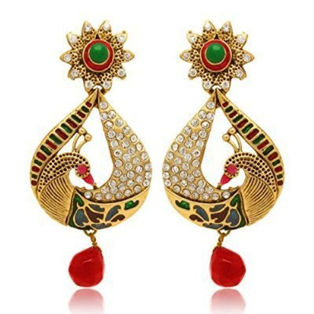 Youbella Traditional Gold Plated Jewellery Pearl Jhumka Jhumki Fancy ...