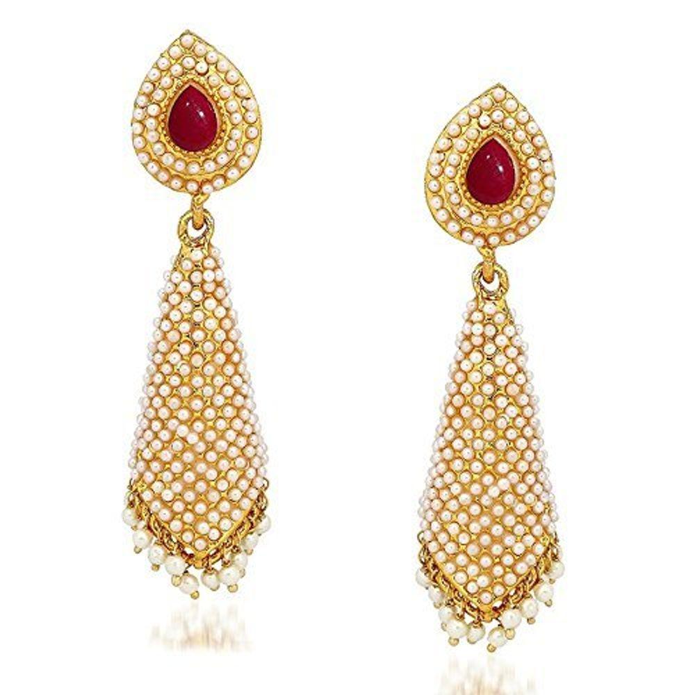95182d8cb1ea9 Youbella Jewellery Pearl Studded Fancy Party Wear Jhumki Jhumka Earrings  For Girls And Women | Ybybear31157