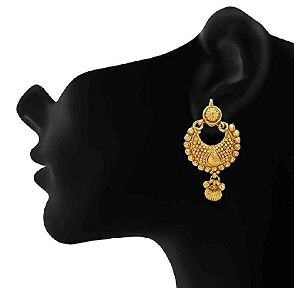 Buy Gold Plated Fancy Party Wear Earrings For Girls And