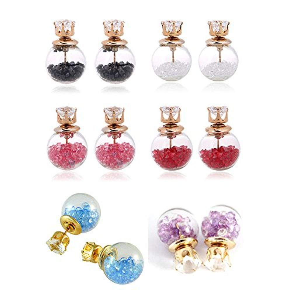 883483cc3 Youbella Crystal Multi-colour Stud Earrings For Womengirls | Combo ...