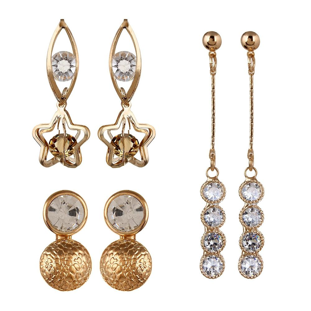 Youbella Presents Lamore Collection Designer Jewellery Earrings For S And Women Combo Of 3 Best Rakhi Gift Ybybecb25