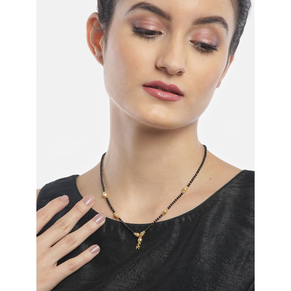 Youbella Gold Plated Jewellery Mangalsutra Pendant With Chain For ...