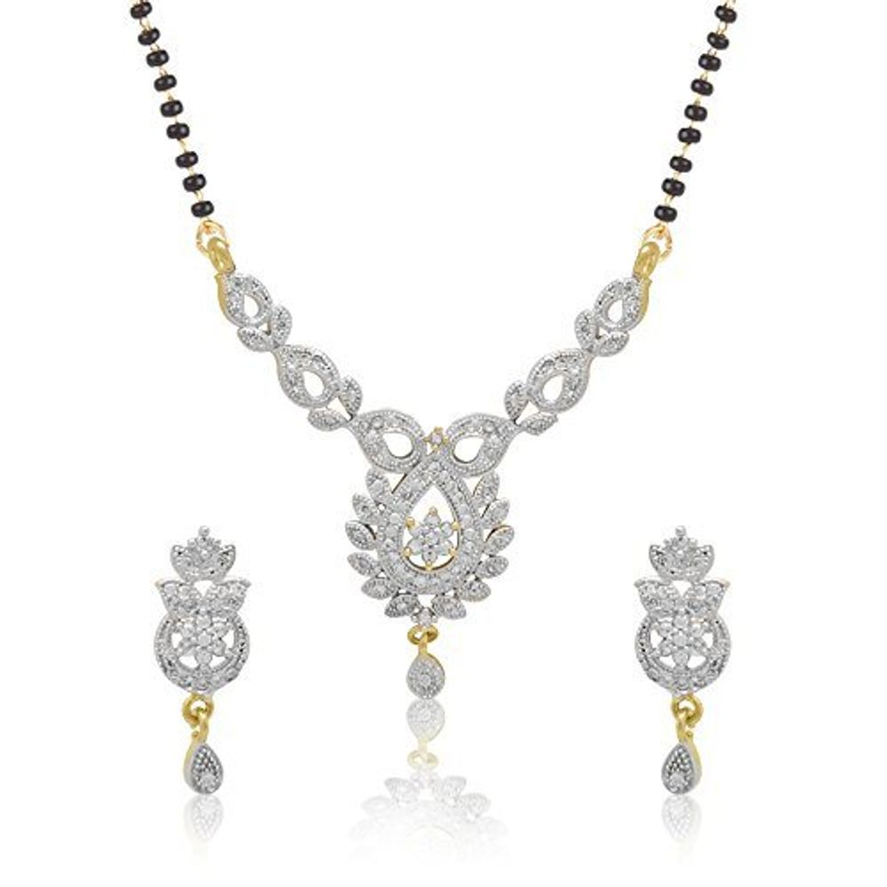 Youbella American Diamond Mangalsutra Jewellery For Girls And ...