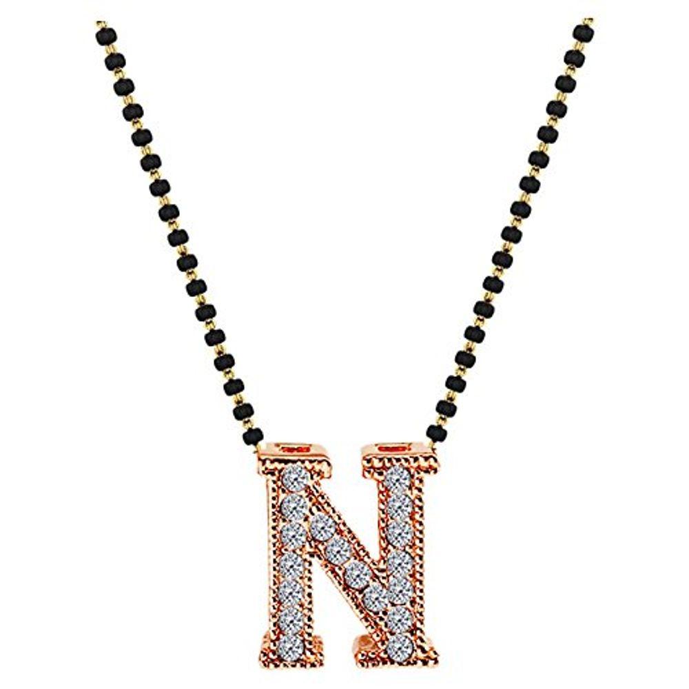 Youbella designer husbands initials mangalsutra necklace pendant zoom aloadofball Choice Image