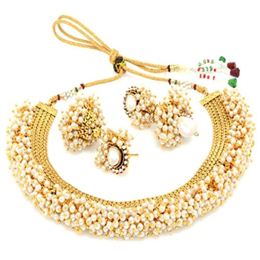 Youbella Exclusive Gold Plated Pearl Studded Traditional Temple ...