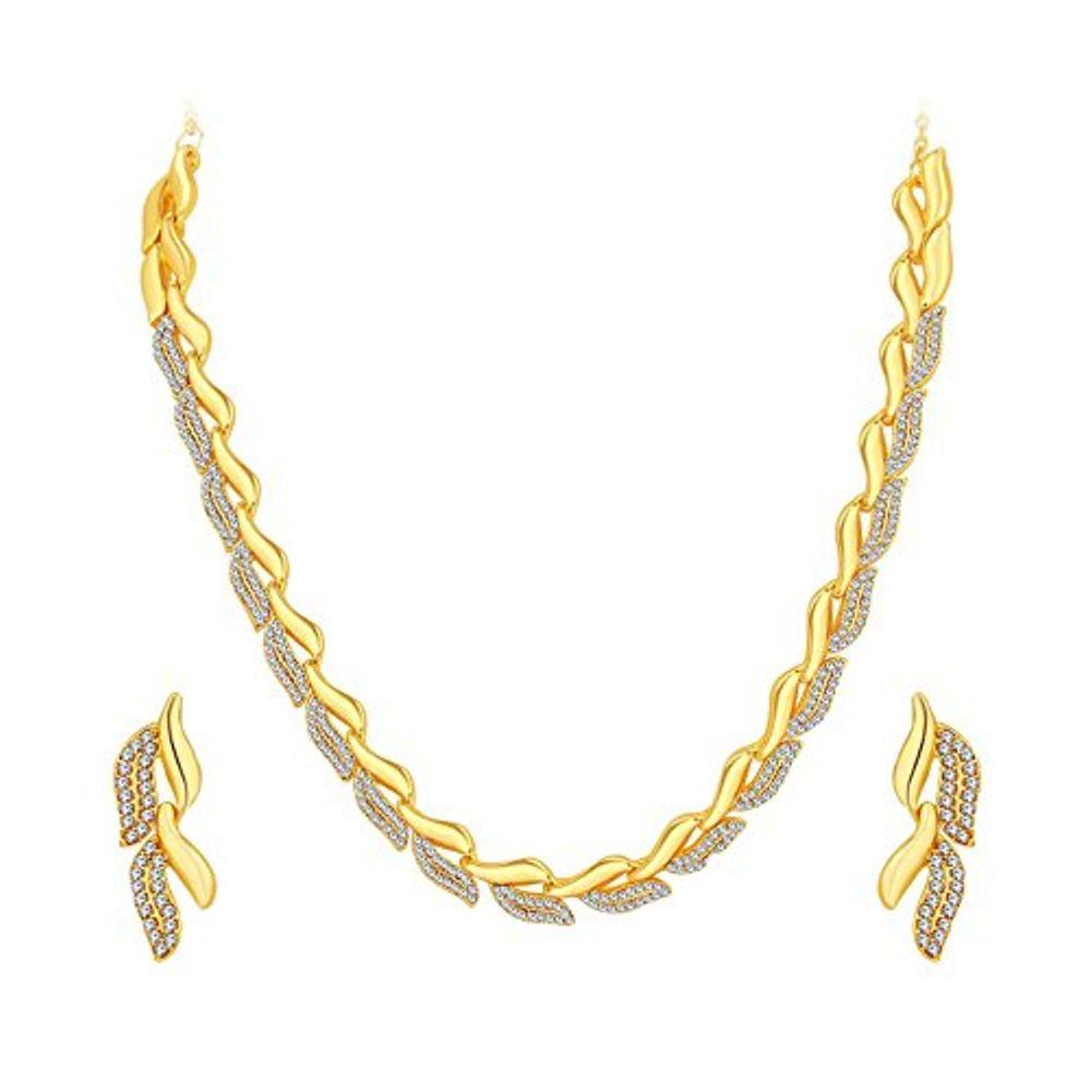 Youbella Austrian Diamond Necklace Set Jewellery Set With Earrings ...