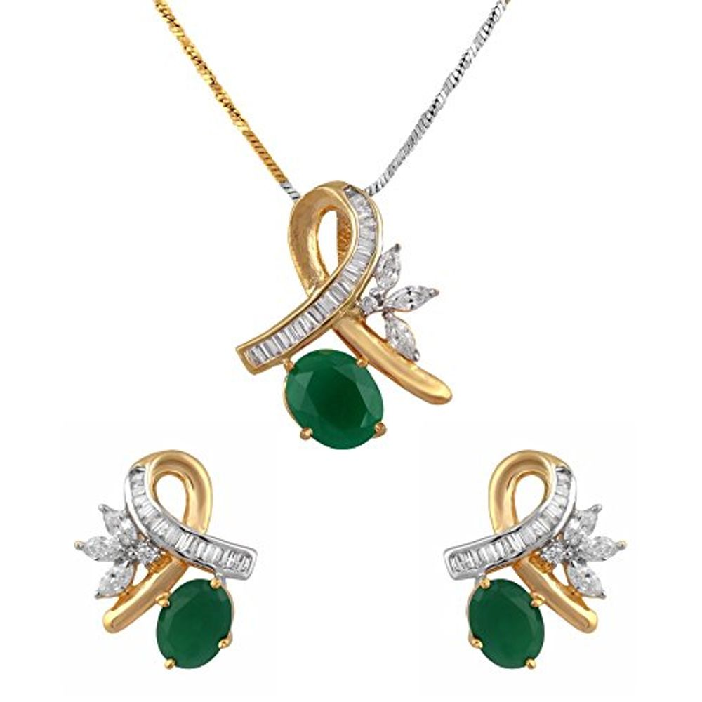b798d1ee261cdf Buy American Diamond Pendent Set for Women at YouBella
