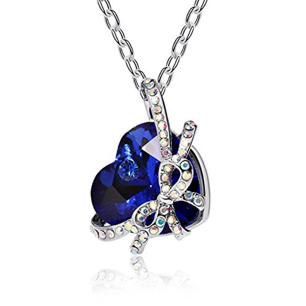 Buy Gracias Collection Designer Heart Shape Crystal Pendant for ...