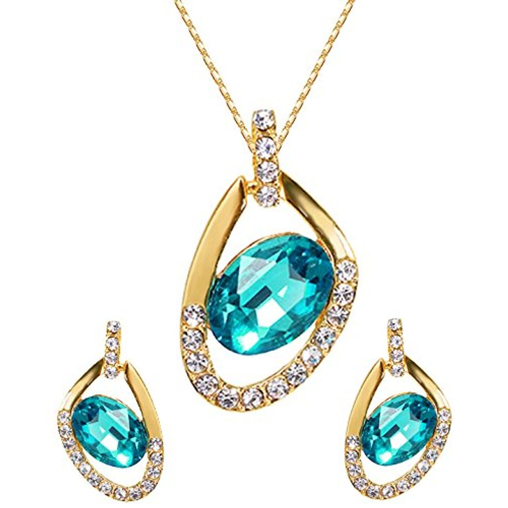 alternative htm blue petal views crystal necklace blooming statement pendant p necklaceby