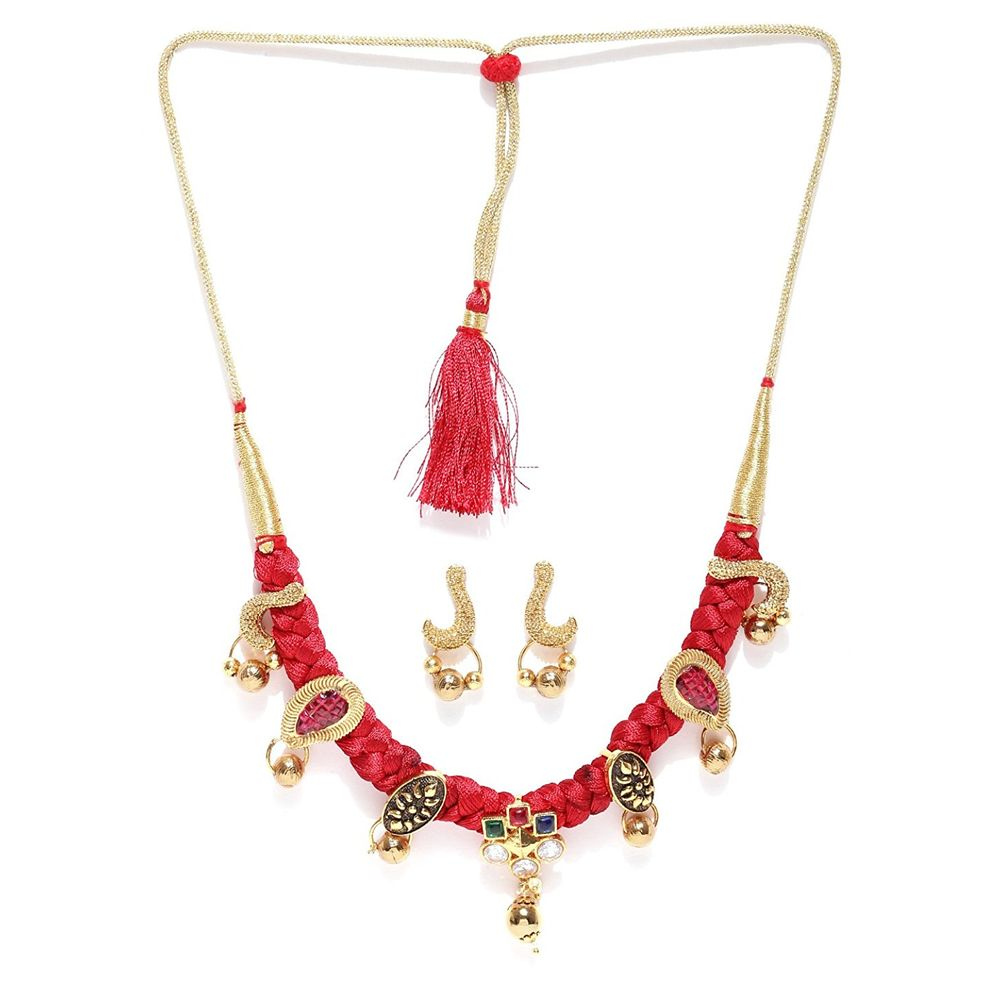 necklace bail silk poornima creations thread kalanabha pin