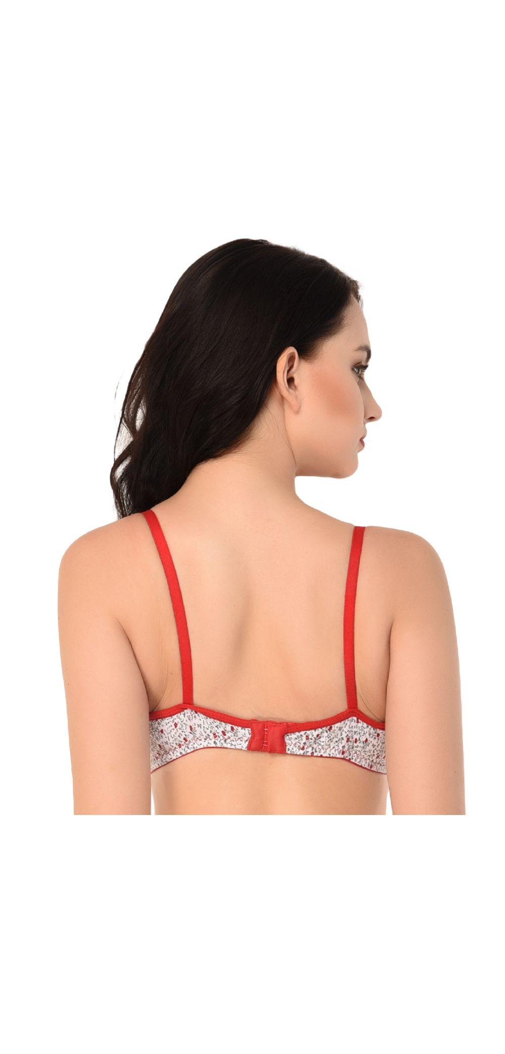 c9a66ab839dfe Glus Printed Soft Skin Padded Non-Wired T-Shirt Bra