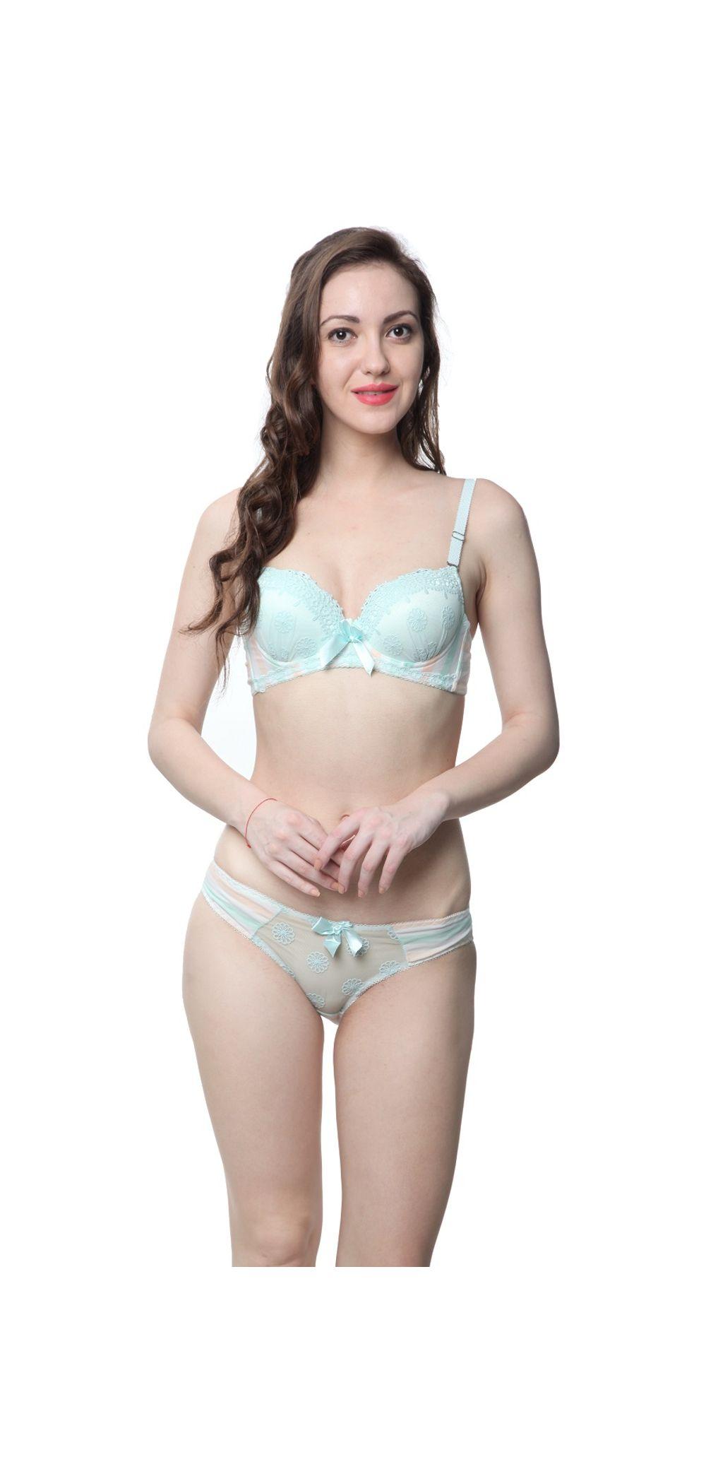 712d164ba Glus Lady Victoria Net Laced Push Up Underwire Bra And Bikini Set ...