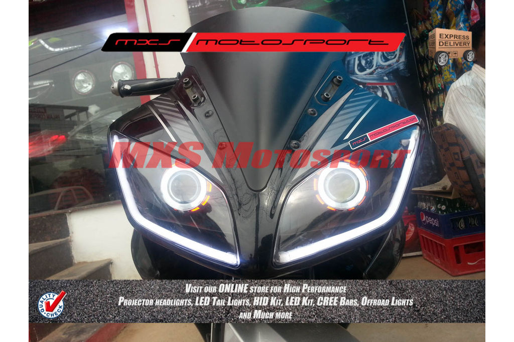 R15 V2 Modified With Projector Lights Projector Headlight Ya...