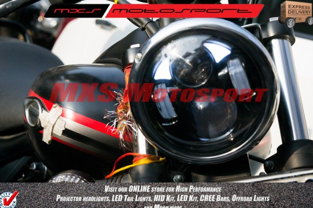 Mxshl138 Led Monster Headlight For Bajaj Avenger ...