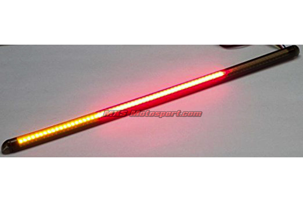 Flexible led motorcycle light bar w/ brake and turn signals