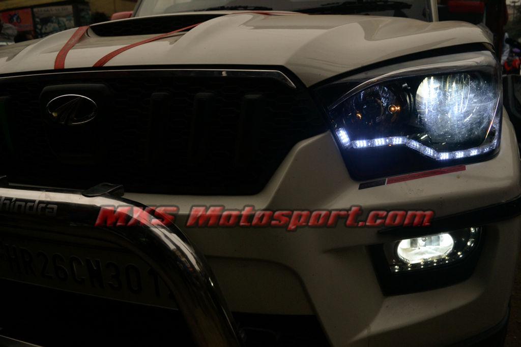 Mxs2647 Mahindra Scorpio Audi Style White Amber Drl