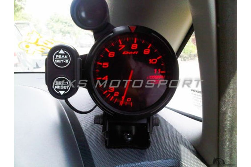 mxs1839 defi 80mm tachometer race gauge rpm meter with shift light