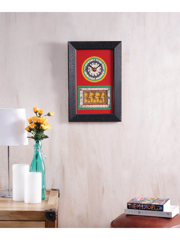 Black Red Handmade Clock
