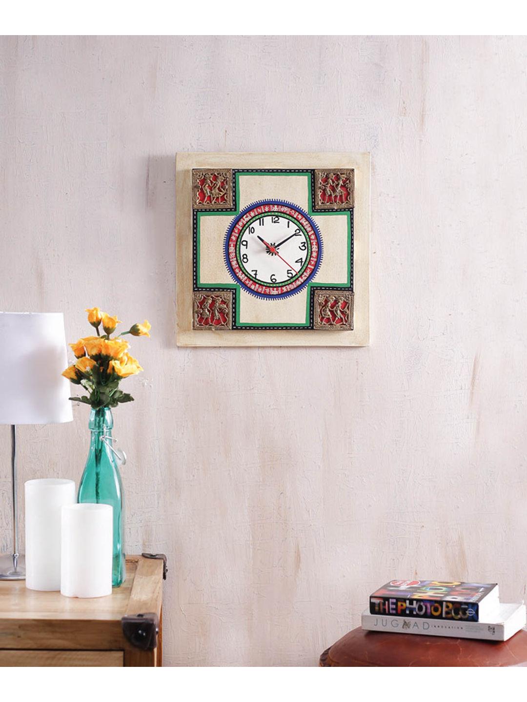 Handmade Light Gold Wall Clock