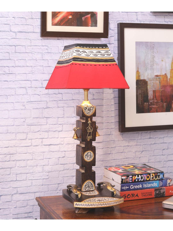 Ethnic Dhokra Warli Wooden Lamp