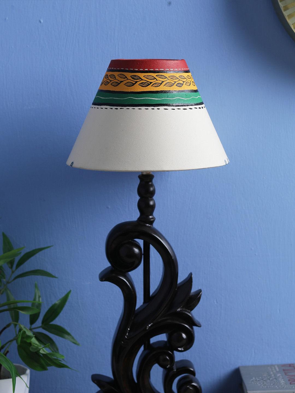 Hand Made 8 Inch Cream fabric Lamp Shade