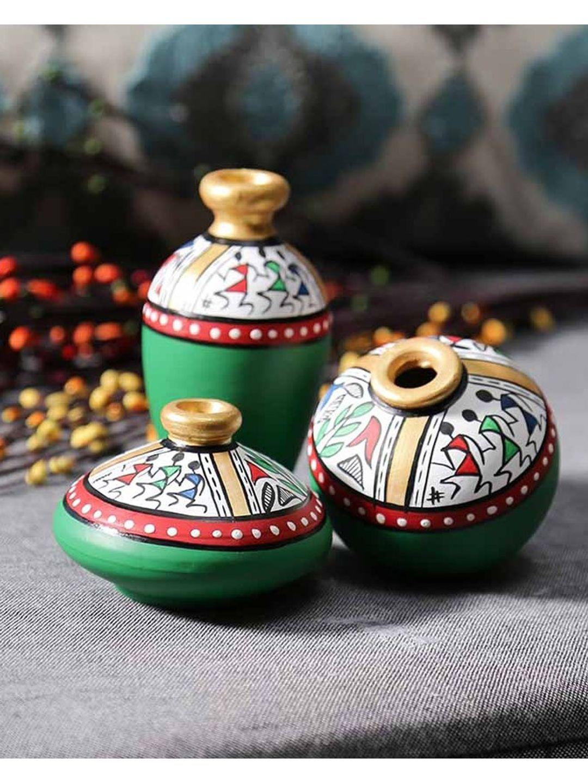 Green Warli Miniature Set